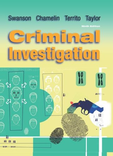 Criminal Investigation  9th 2006 (Student Manual, Study Guide, etc.) edition cover