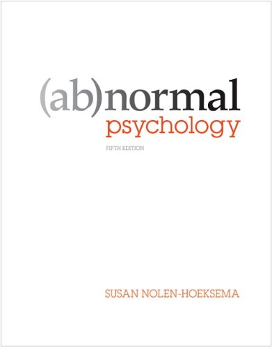 Abnormal Psychology  5th 2011 edition cover