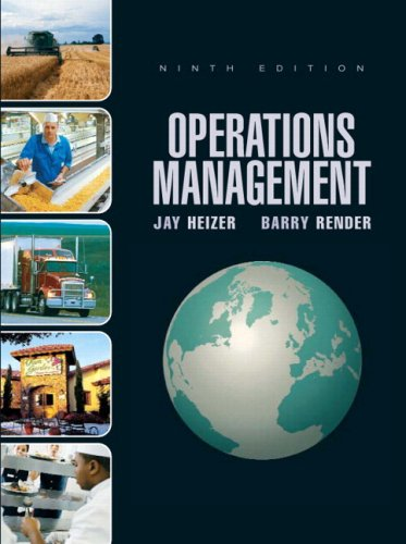 Operations Management  9th 2008 edition cover