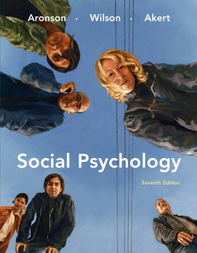 Social Psychology  7th 2010 edition cover