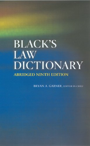 Black's Law Dictionary  9th 2010 edition cover