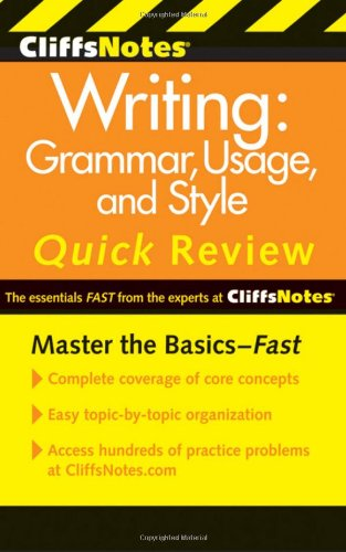 CliffsNotes Writing Grammar, Usage, and Style Quick Review 3rd 2011 edition cover