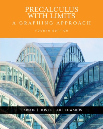 Precalculus with Limits A Graphing Approach 4th 2005 edition cover