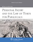 Personal Injury and the Law of Torts for Paralegals  3rd edition cover