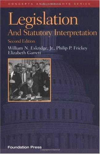 Legislation and Statutory Interpretation  2nd 2006 (Revised) edition cover