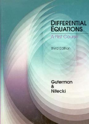 Differential Equations A First Course 3rd 9780030728785 Front Cover