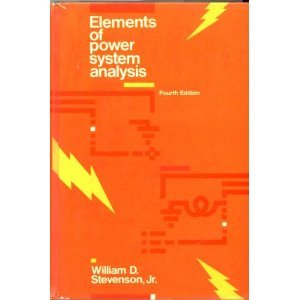 Elements of Power System Analysis  4th 1982 9780070612785 Front Cover