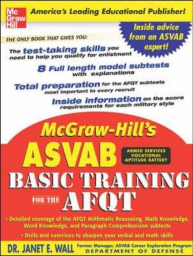McGraw-Hill's ASVAB Basic Training for the AFQT   2006 9780071462785 Front Cover