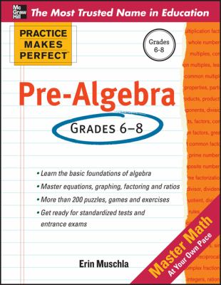 Practice Makes Perfect Pre-Algebra   2013 9780071772785 Front Cover