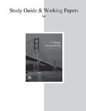 Study Guide and Working Papers for College Accounting (a Contemporary Approach)  3rd 2015 edition cover