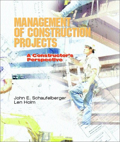 Management of Construction Projects A Constructor's Perspective  2002 edition cover