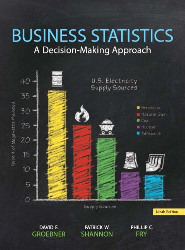 Business Statistics A Decision-Making Approach 9th 2014 edition cover