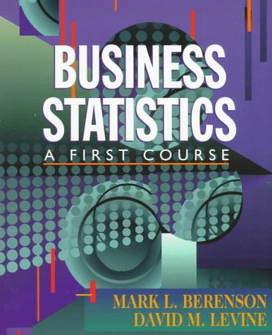 Business Statistics A First Course  1998 9780137441785 Front Cover