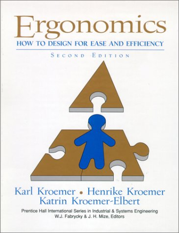 Ergonomics How to Design for Ease and Efficiency 2nd 2001 edition cover