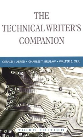 Technical Writer's Companion  3rd 2002 edition cover