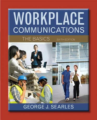Workplace Communication The Basics 6th 2014 edition cover