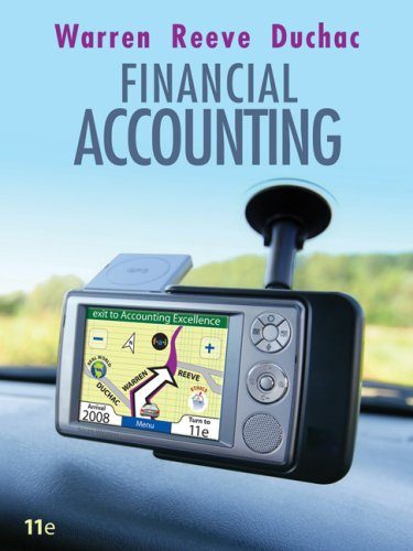 Financial Accounting  11th 2009 edition cover