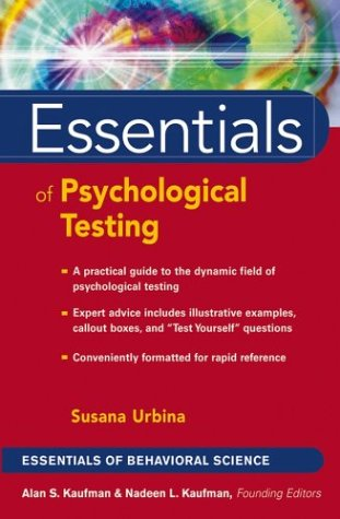 Essentials of Psychological Testing   2004 9780471419785 Front Cover