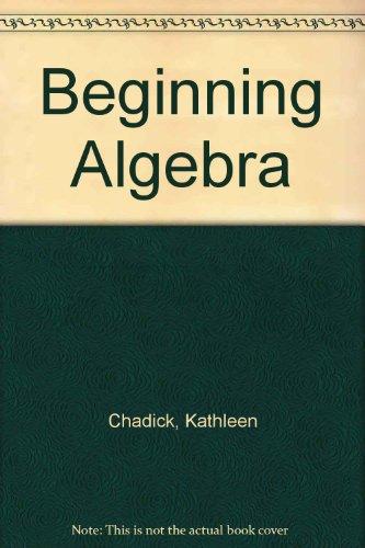 Beginning Algebra  2nd 2003 (Revised) 9780757504785 Front Cover