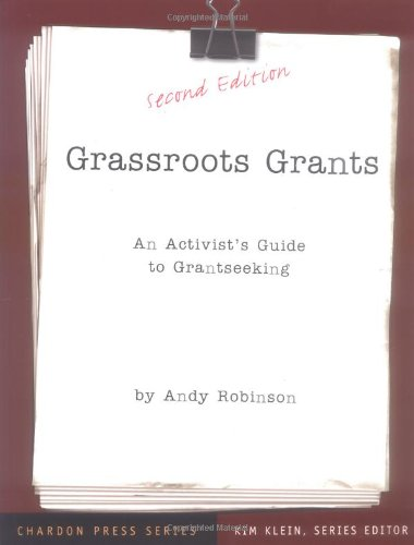 Grassroots Grants An Activist's Guide to Grantseeking 2nd 2004 (Revised) edition cover