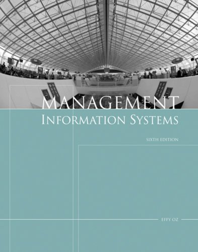 Management Information Systems  6th 2009 9781423901785 Front Cover