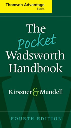 Pocket Wadsworth Handbook  4th 2009 (Revised) 9781428229785 Front Cover