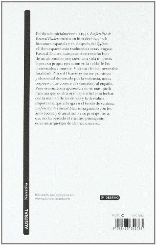 LA FAMILIA DE PASCUAL DUARTE N/A edition cover
