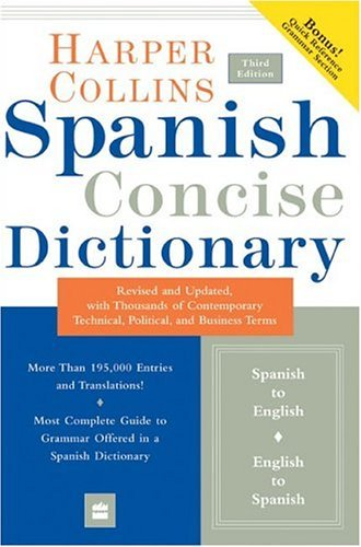 Spanish Concise Dictionary  3rd 2004 edition cover
