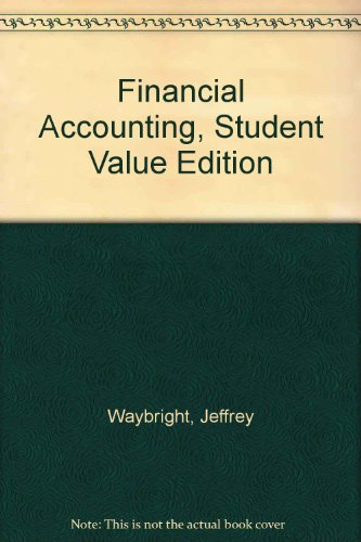 Financial Accounting: Student Value Edition  2010 9780132126786 Front Cover