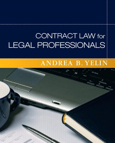 Contract Law for Legal Professionals   2011 edition cover