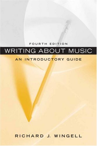 Writing about Music An Introductory Guide 4th 2009 edition cover