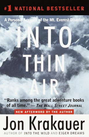 Into Thin Air A Personal Account of the Mt. Everest Disaster  1997 9780385494786 Front Cover