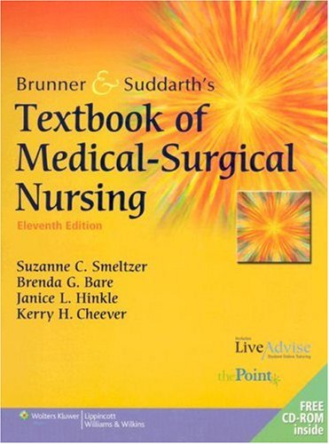 Brunner and Suddarth's Textbook of Medical-Surgical Nursing  11th 2007 (Revised) edition cover