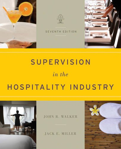 Supervision in the Hospitality Industry  7th 2012 edition cover