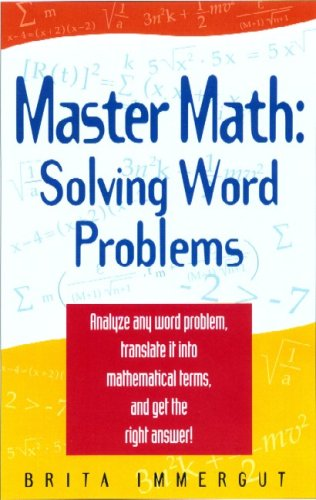 Master Math Solving Word Problems  2004 9781564146786 Front Cover
