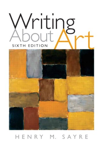 Writing about Art  6th 2009 edition cover