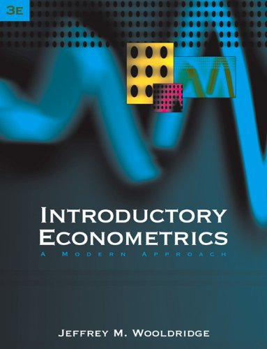 Introductory Econometrics A Modern Approach 3rd 2006 edition cover