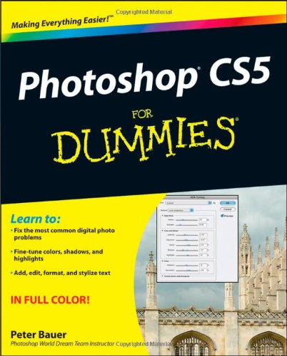Photoshop CS5 for Dummies   2010 edition cover
