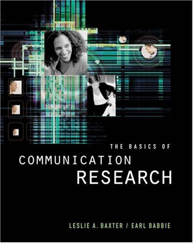 Basics of Communication Research   2004 edition cover