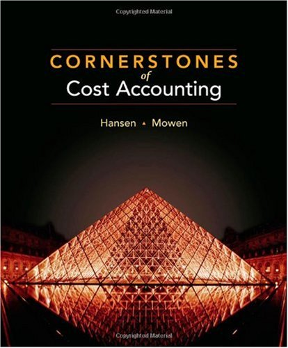 Cornerstones of Cost Accounting   2011 edition cover
