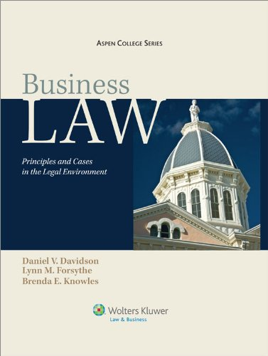 Business Law Principles and Cases in the Legal Environment 9th 2011 edition cover
