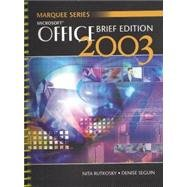 Microsoft Brief Office 2003 1st 2004 9780763820787 Front Cover