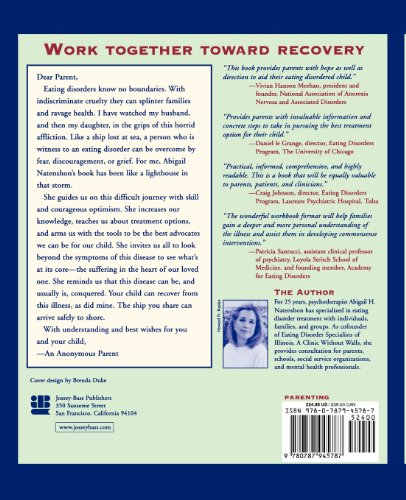 When Your Child Has an Eating Disorder A Step-by-Step Workbook for Parents and Other Caregivers  1999 edition cover