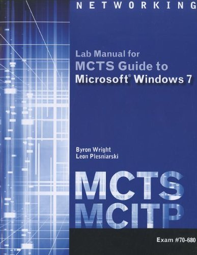 MCTS Guide to Microsoft Windows 7   2011 edition cover