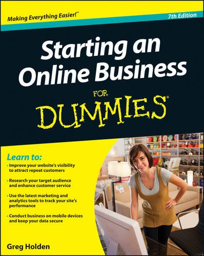 Starting an Online Business for Dummies�  7th 2013 9781118607787 Front Cover