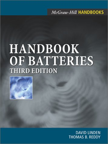 Handbook of Batteries  3rd 2002 (Revised) 9780071359788 Front Cover