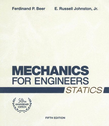Mechanics for Engineers, Statics  5th 2008 (Revised) edition cover