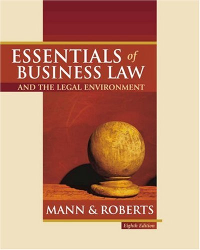 Essentials of Business Law and the Legal Environment  8th 2004 edition cover