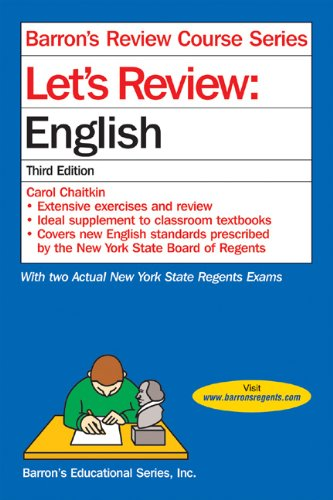 Let's Review English 3rd 2009 9780764123788 Front Cover