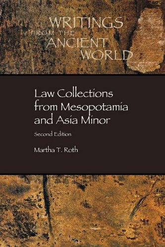 Law Collections from Mesopotamia and Asia Minor 2nd 1997 edition cover